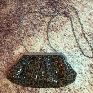 Charming Charlie Leopard Sequin Clutch